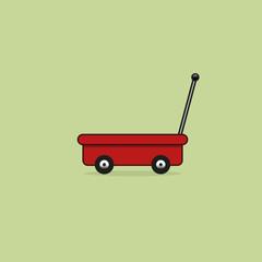 Hand trolley vector icon