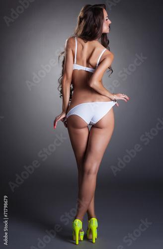 Image of seductive model flirting with camera - 71798679
