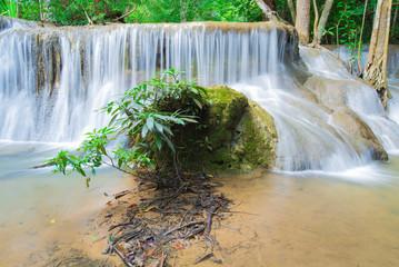 Huay Mae Kamin Waterfall in Kanchanaburi province,
