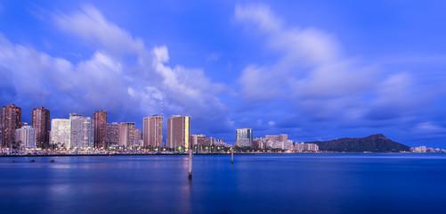 Hawaii skyline at twilight