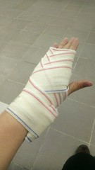 Learn first aid now, bandaging