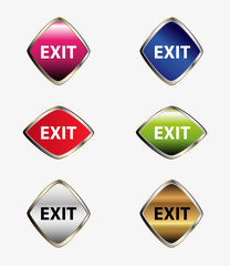 Exit icon sign set