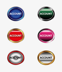 Icon account profile button