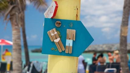 Caribbean Restroom Sign