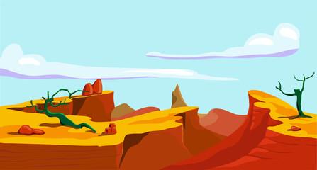 Landscape of wild west.
