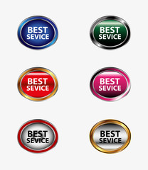 Set of best service button