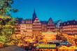 Leinwanddruck Bild - Christmas market in Frankfurt