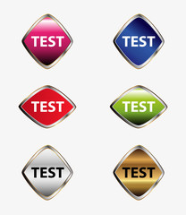 Test Button set vector