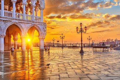 Poster Sonnenaufgang in Venedig