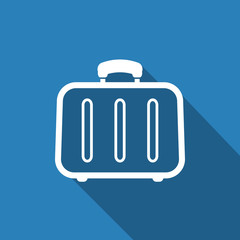 baggage icon with long shadow