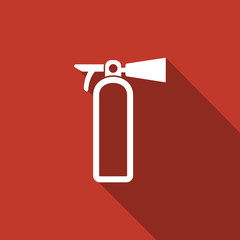 fire extinguisher icon with long shadow
