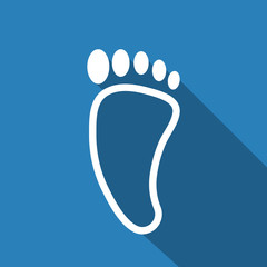 footprint icon with long shadow