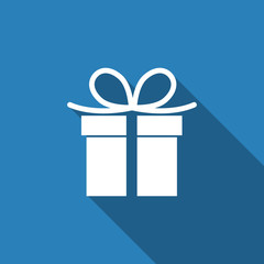 gift box icon with long shadow