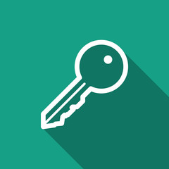 key icon with long shadow