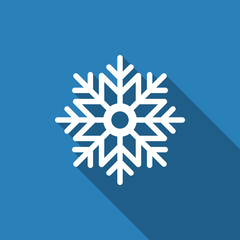 snowflake icon with long shadow