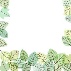 カジュアルな緑の葉のフレーム