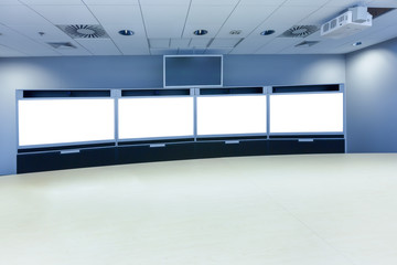 teleconferencing and telepresence business meeting room