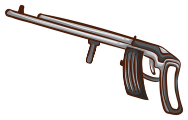 A simple sketch of a soldier's gun