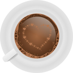 filiżanka kawy i serce z serc