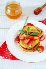 Breakfast - French toast with berries