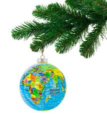 Globe and christmas tree