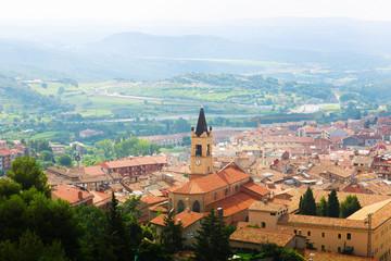 Top view of town in Pyrenees. Berga