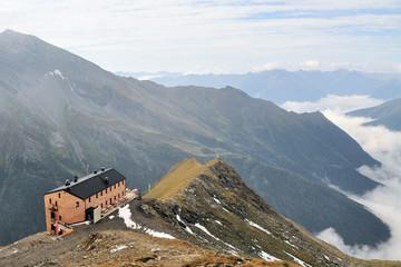 mountain hut in the Austrian alps