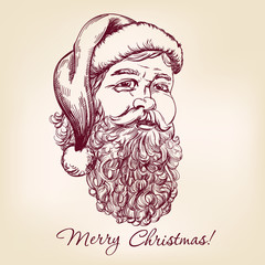 Santa Claus hand drawn vector llustration
