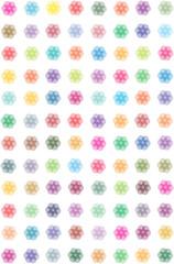 transparent symmetrical flowers background