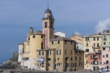 Camogli, Liguria, Italy picturesque fishermen village