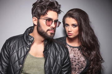 Young fashion couple posing