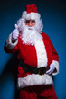Santa Claus showing the thumbs up gesture