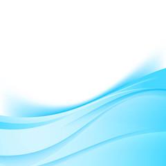 Blue swoosh satin lines border modern background