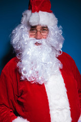 Portrait of Santa Claus looking at the camera