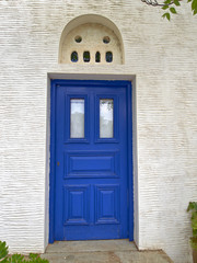 Greece, Tinos island, blue door