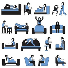 people with sofa and chair