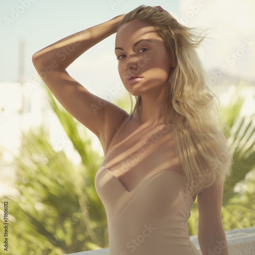 canvas print picture Blonde in the sun