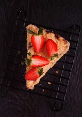 napoleon cake garnished with strawberries