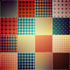 Retro patchwork pattern.
