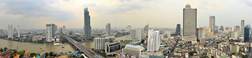 Bangkok Skyline with the Chao Phraya river