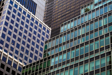 Skyscrapers office buildings in New York City