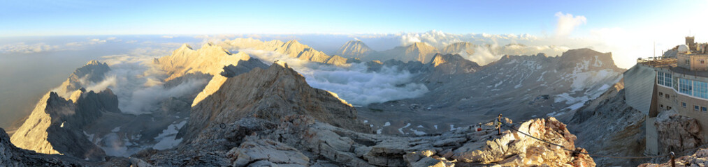 Zugspitze, Germany's highest mountain peak