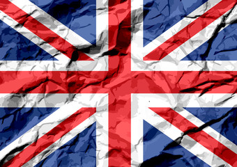 National flag of UK , the United Kingdom of Great Britain and No