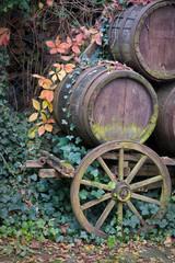 alter Weinwagen