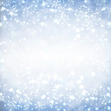 Fototapety Christmas background with glitter snowflakes.