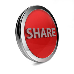 share circular icon on white background