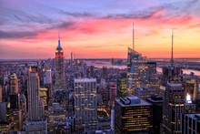 壁紙(ウォールミューラル) - New York City Midtown with Empire State Building at Sunset