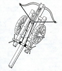 Espringole - large crossbow on wheels