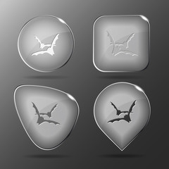 Bats. Glass buttons. Vector illustration.