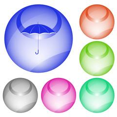 Umbrella. Vector interface element.